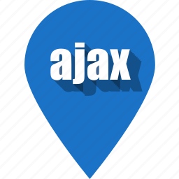 ajax, coding, development, pin, programming, web, website icon