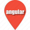 angular, coding, development, pin, programming, web, website icon