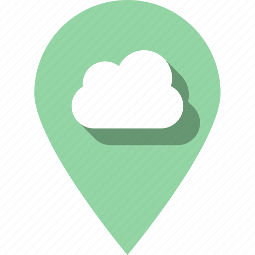 cloud, data, development, internet, pin, weather, web icon