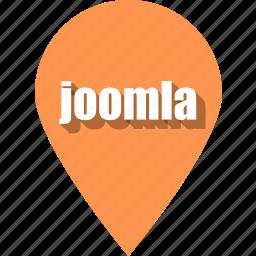 coding, development, joomla, pin, programming, web, website icon