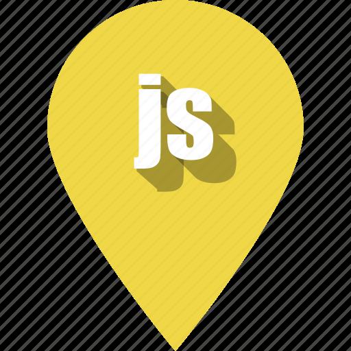 coding, development, js, pin, programming, web icon