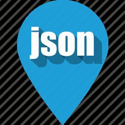 coding, development, json, pin, programming, web, website icon