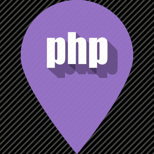 coding, development, php, pin, programming, web, website icon