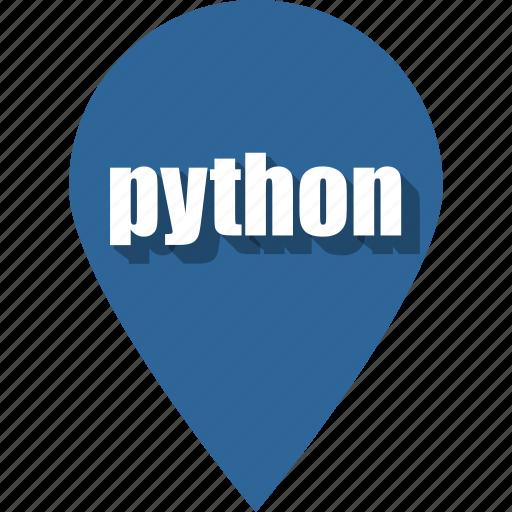 coding, development, pin, programming, python, web, website icon
