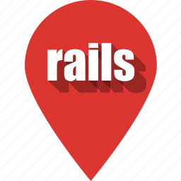 coding, development, pin, programming, rails, web, website icon
