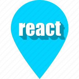 coding, development, pin, programming, react, web, website icon