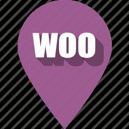 coding, development, pin, programming, web, website, woo icon