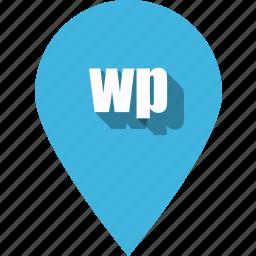 coding, development, pin, programming, web, wp icon