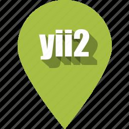 coding, development, pin, programming, web, website, yii2 icon