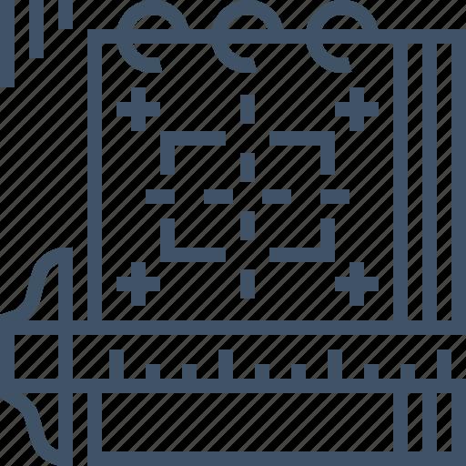 design, guideline, mock, notepad, sketch, ups, wireframe icon