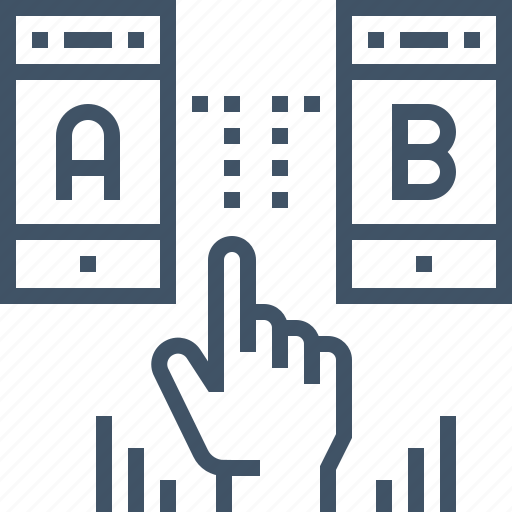 a, application, b, case, mobile, smartphone, testing icon