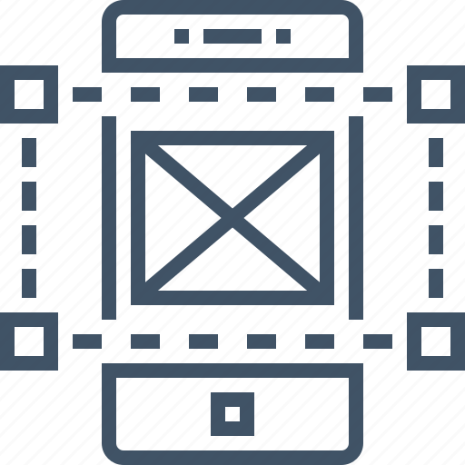 design, frame, layout, ui, ux, wire, wireframe icon