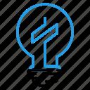 bulb, dolar, idea, lamp, light, money icon