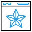 envelope, file, medal, star icon