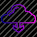 colud, down, rain, season, weather icon