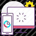 analytics, click, settings, web, web customization, web development icon