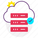 cloud server, data server, database, host, hosting, web icon