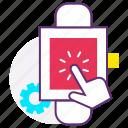 application, development, interactive development, smart watch, touch screen, web icon