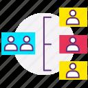 data flow, design, development, hierarchy, inheritance, program icon
