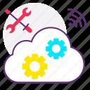 cloud database, cloud server, cloud setting, configuration, wifi, wireless icon