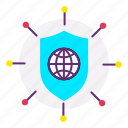 internet, network, network security, shield, web, web security icon
