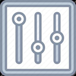 adjustments, equalizer, settings, volume, web icon