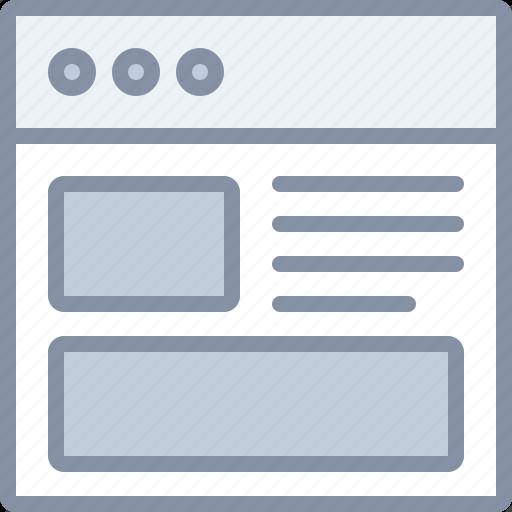 browser, internet, tab, web icon