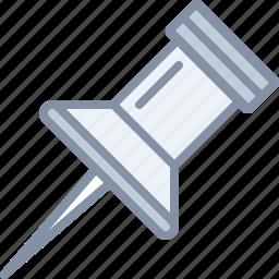 pin, pushpin, tag, web icon
