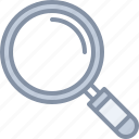 glass, magnifying, research, search, web, zoom icon