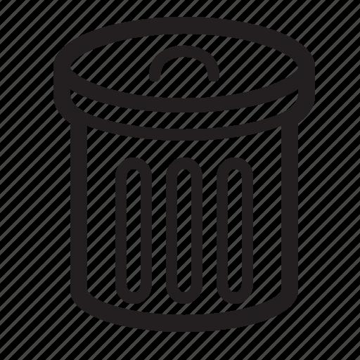 bin, can, garbage, remove, trash icon