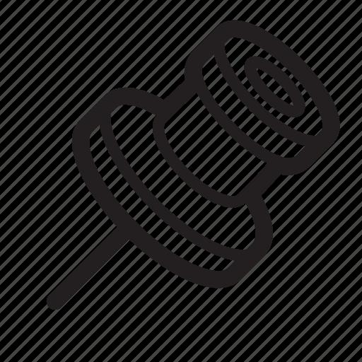 pin, pushpin icon