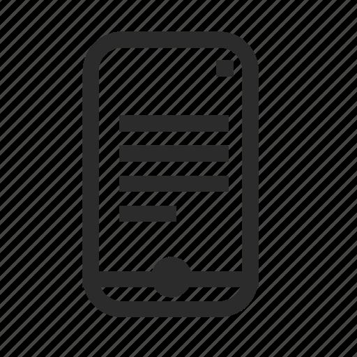celular, device, messege, mobile, phone, smartphone icon