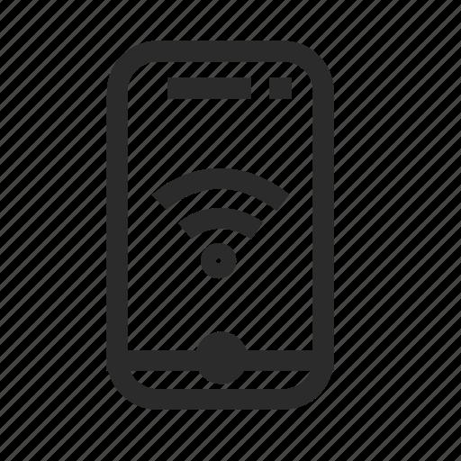 phone, smartphone, wifi icon