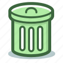 bin, can, garbage, remove, trash icon