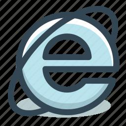 browser, explorer, internet, microsoft, web icon