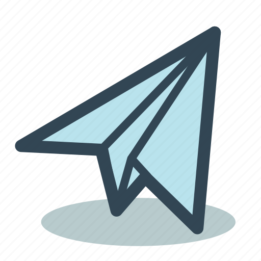airplane, communication, email, flight, fly, paper icon
