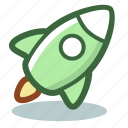 boost, cosmos, rocket, space, spacecraft, spaceship, startup icon