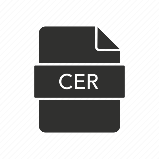 cer, cer document, certificate, document icon