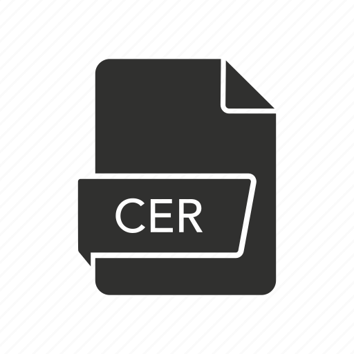 cer, certificate, certificate file, website icon