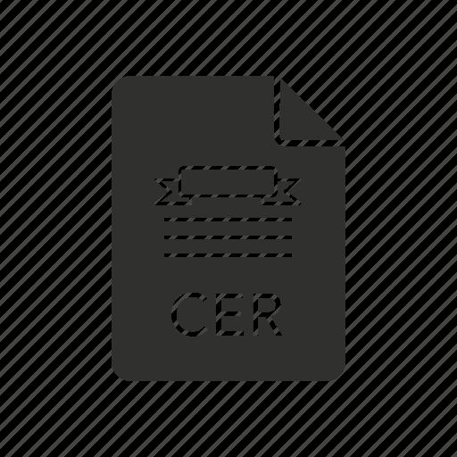 cer, certificate, internet, website icon