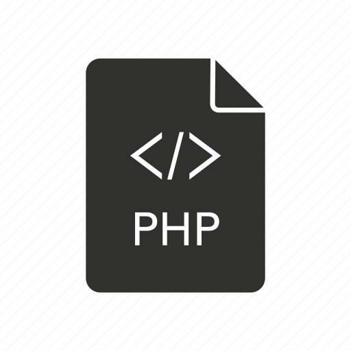 code, document, personal home page, php icon