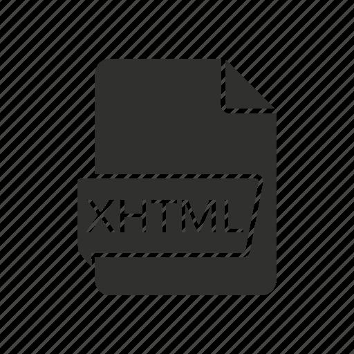 extensible hypertext markup language, internet, website, xhtml icon