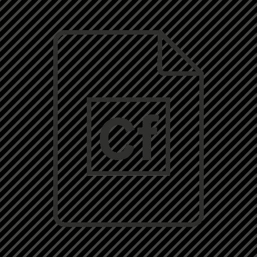 .cf, cf document, cf file, cf file icon, cf icon, coldfusion file, coldfusion markup language icon - Download on Iconfinder