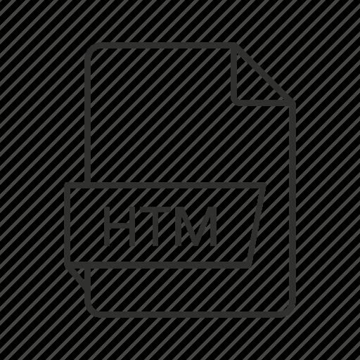 .htm, htm document, htm file, htm file icon, htm icon, hypertext markup language, hypertext markup language file icon - Download on Iconfinder