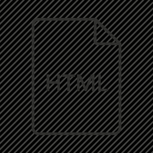 .html, html document, html file, html file icon, html icon, hypertext markup language, hypertext markup language file icon - Download on Iconfinder