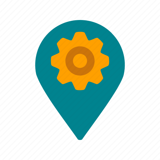gps, location, map, mark, settings, sign, tag icon