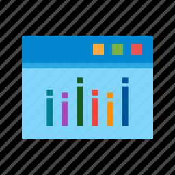 analysis, information, internet, report, web, website icon