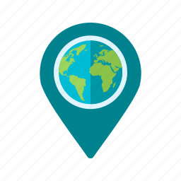 global, globe, gps, location, map, travel, web icon