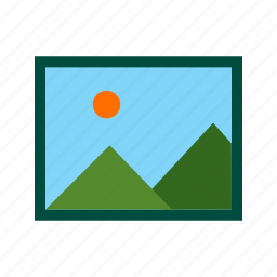 albums, frame, gallery, image, photo, picture, web icon