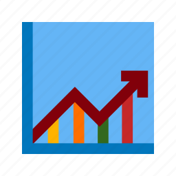 arrow, chart, economy, graph, growth, rise, rising icon